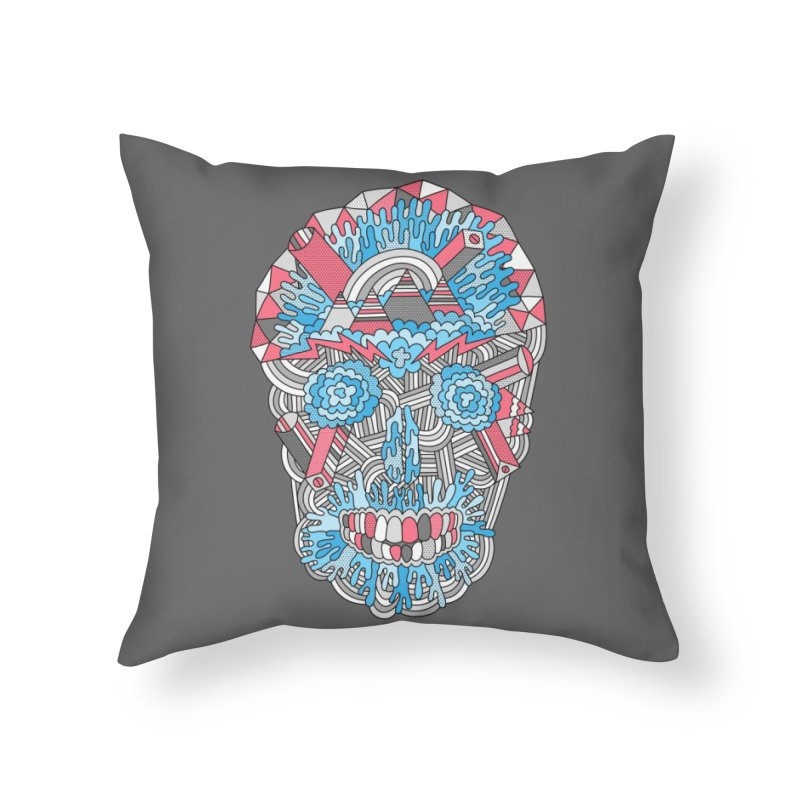 Anatomy of a Skull Home Throw Pillow by Threadless Artist Shop