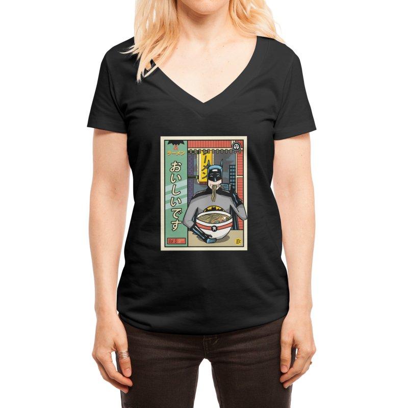 and Ramen Women's V-Neck by Threadless Artist Shop