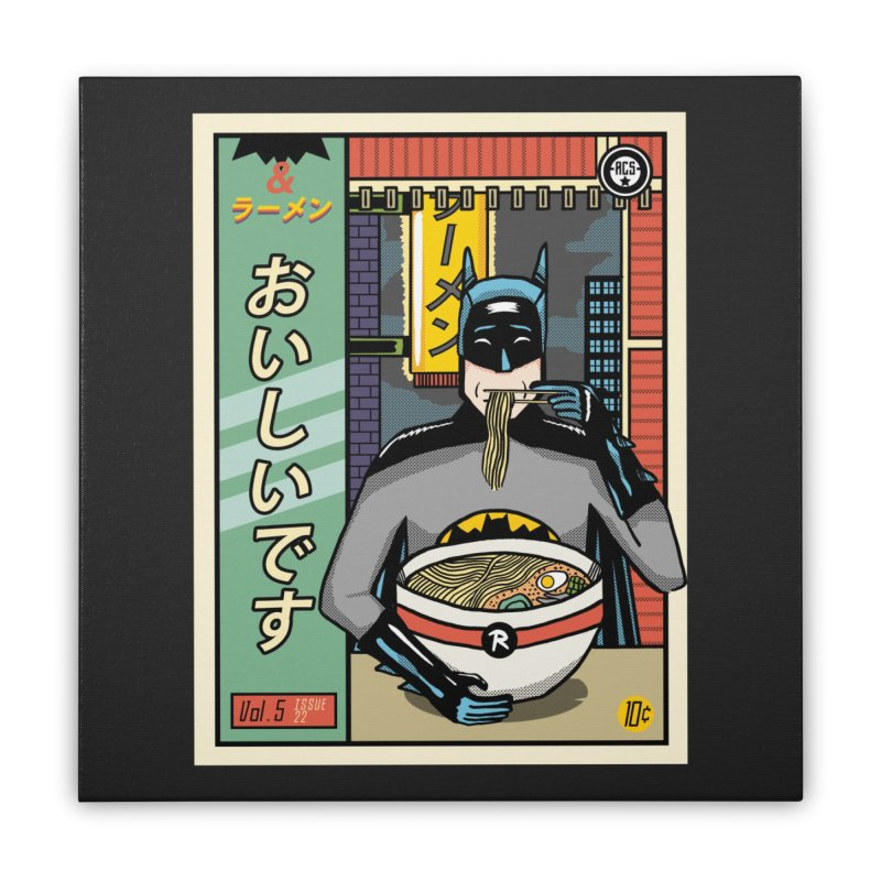 and Ramen Home Stretched Canvas by Threadless Artist Shop