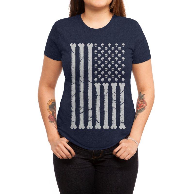 American Skulls and Bones Women's T-Shirt by Threadless Artist Shop