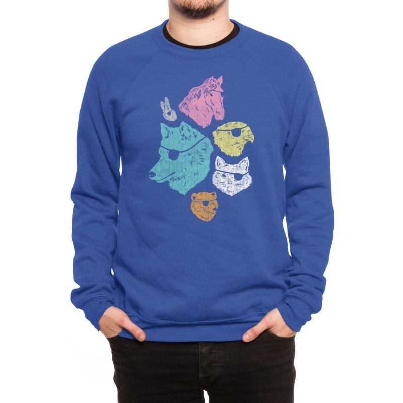 Animals with Eyepatches! Yes! Men's Sweatshirt by Threadless Artist Shop