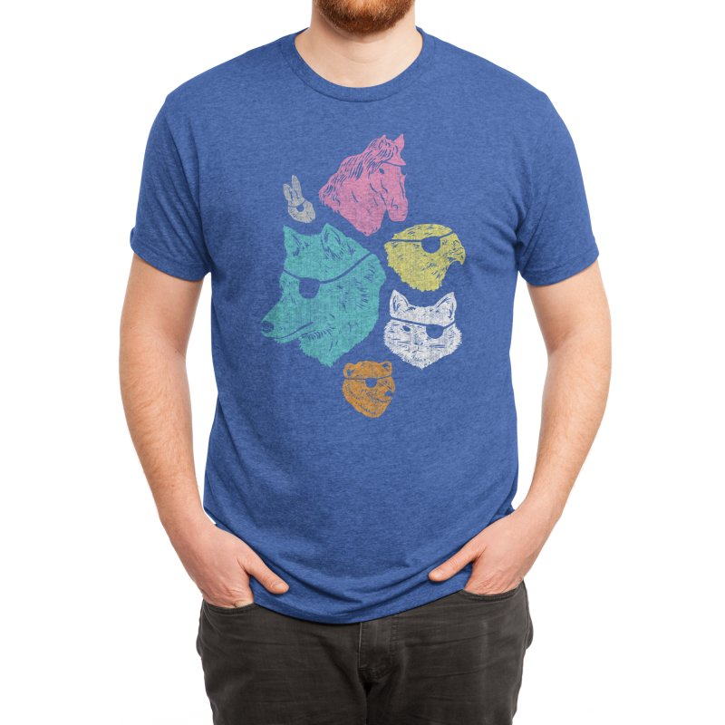 Animals with Eyepatches! Yes! Men's T-Shirt by Threadless Artist Shop
