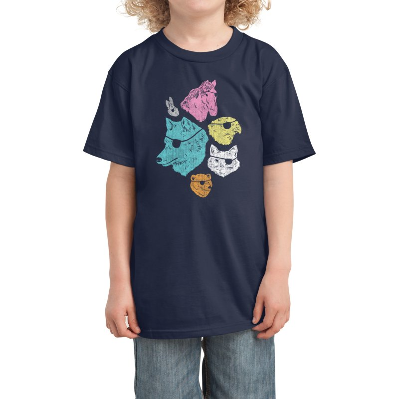 Animals with Eyepatches! Yes! Kids T-Shirt by Threadless Artist Shop