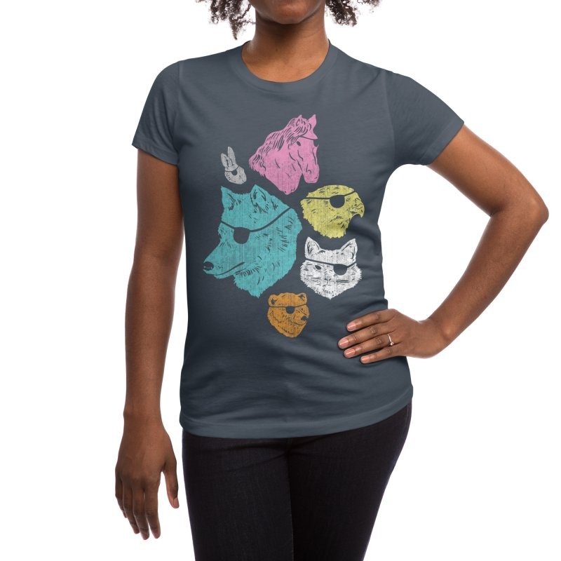 Animals with Eyepatches! Yes! Women's T-Shirt by Threadless Artist Shop