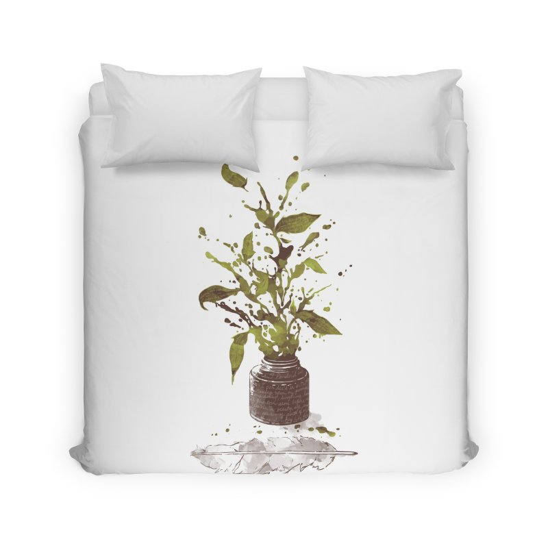 A Writer's Ink Home Duvet by Threadless Artist Shop