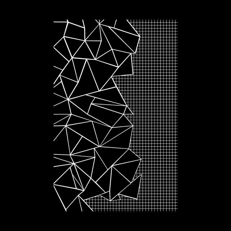 Ab Outline Grid on Side Black Men's T-Shirt by Threadless Artist Shop