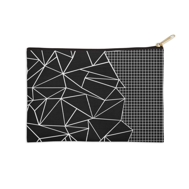 Ab Outline Grid on Side Black Accessories Zip Pouch by Threadless Artist Shop