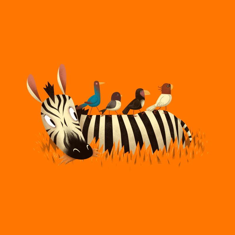 Abbey Zebra Home Fine Art Print by Threadless Artist Shop
