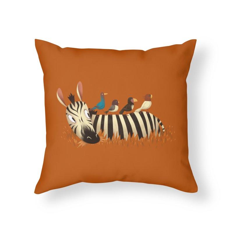 Abbey Zebra Home Throw Pillow by Threadless Artist Shop