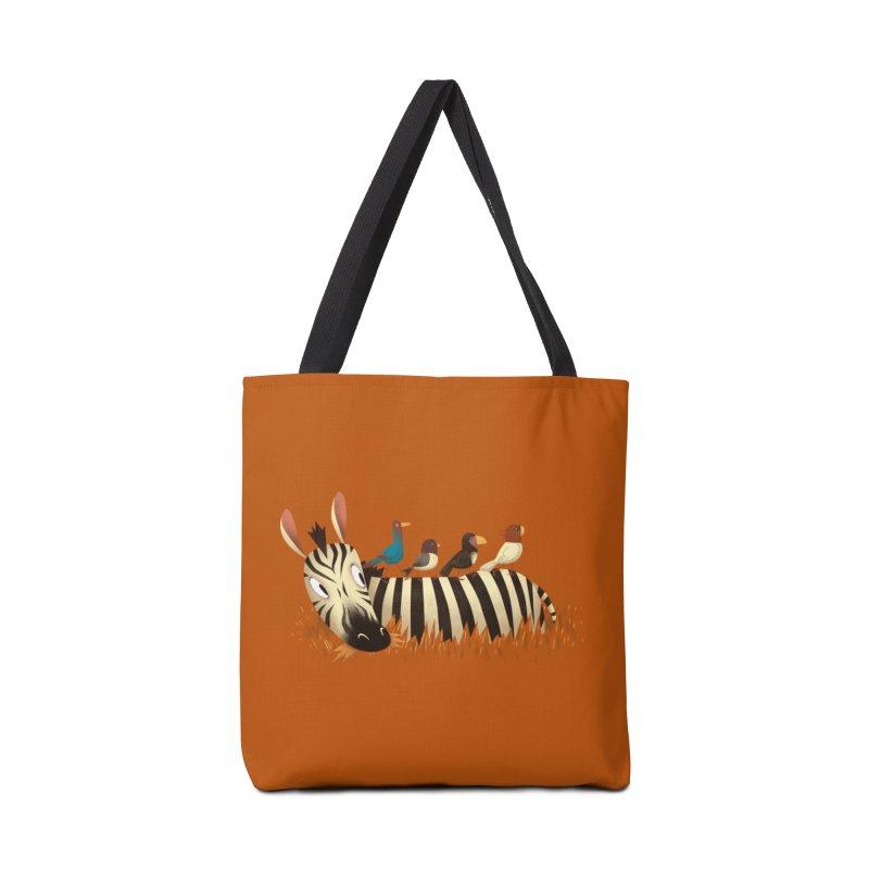 Abbey Zebra Accessories Bag by Threadless Artist Shop