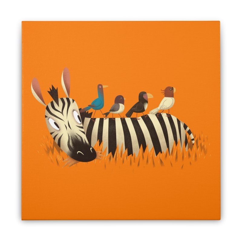 Abbey Zebra Home Stretched Canvas by Threadless Artist Shop
