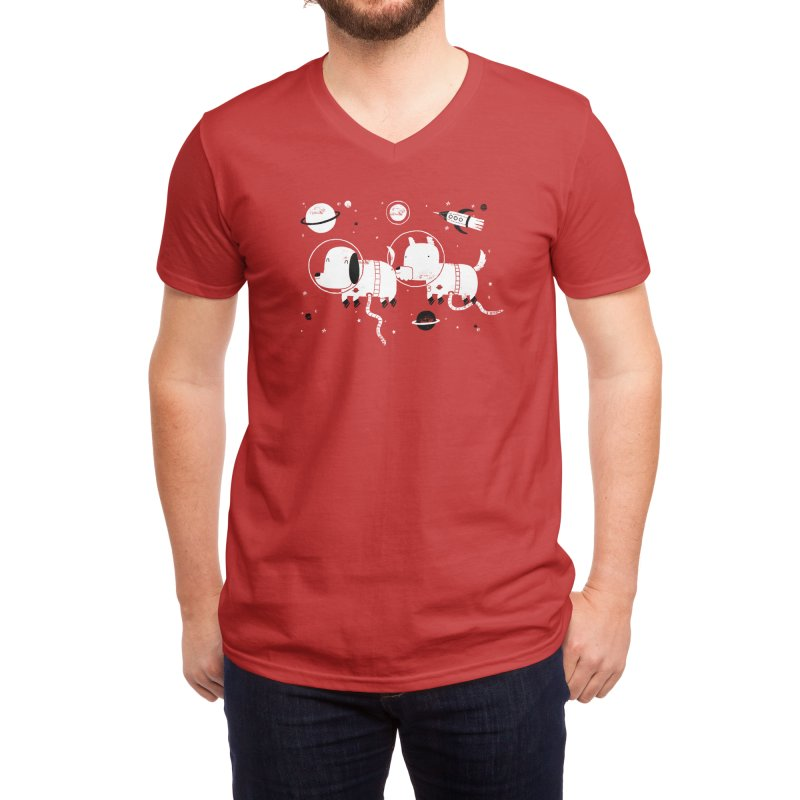 Astro Dogs Men's V-Neck by Threadless Artist Shop
