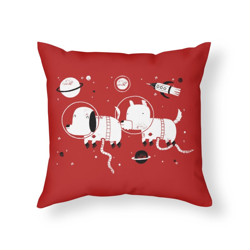 Astro Dogs Home Throw Pillow by Threadless Artist Shop