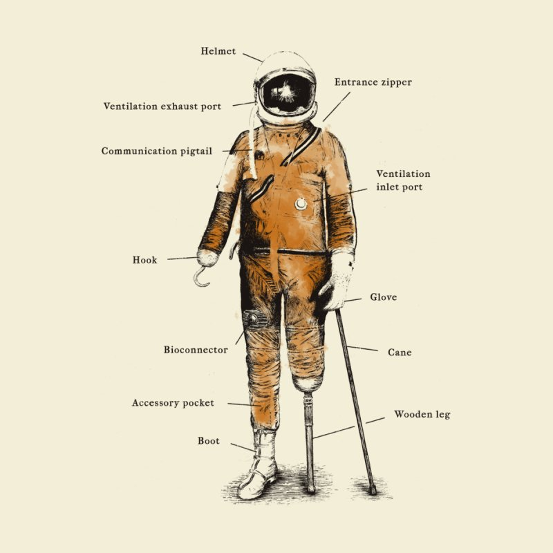 Astropirate Men's T-Shirt by Threadless Artist Shop