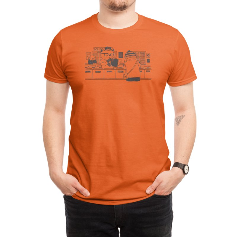 At the Record Store Men's T-Shirt by Threadless Artist Shop