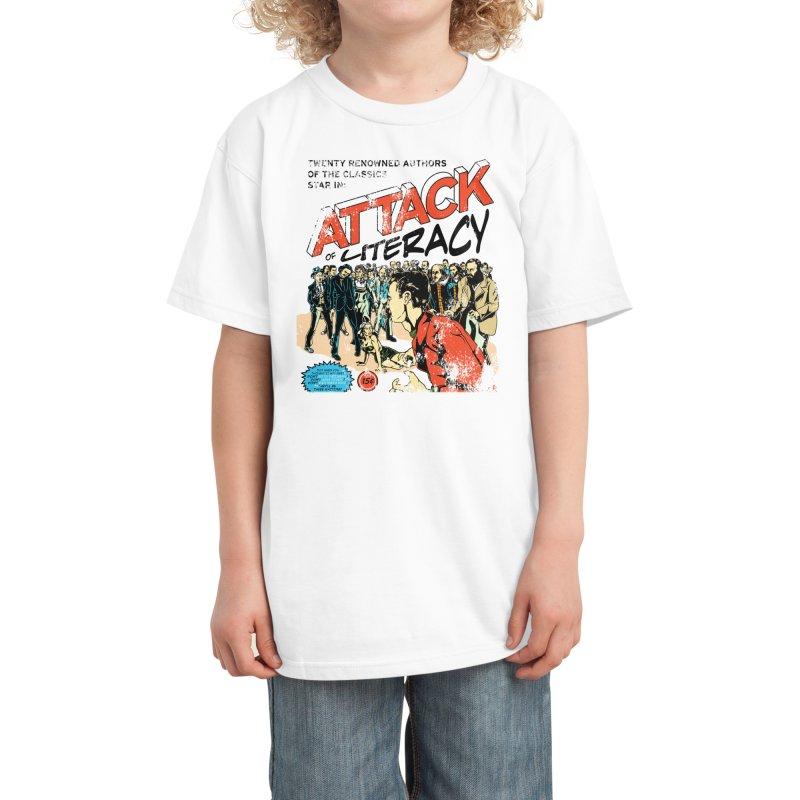 Attack of Literacy! Kids T-Shirt by Threadless Artist Shop