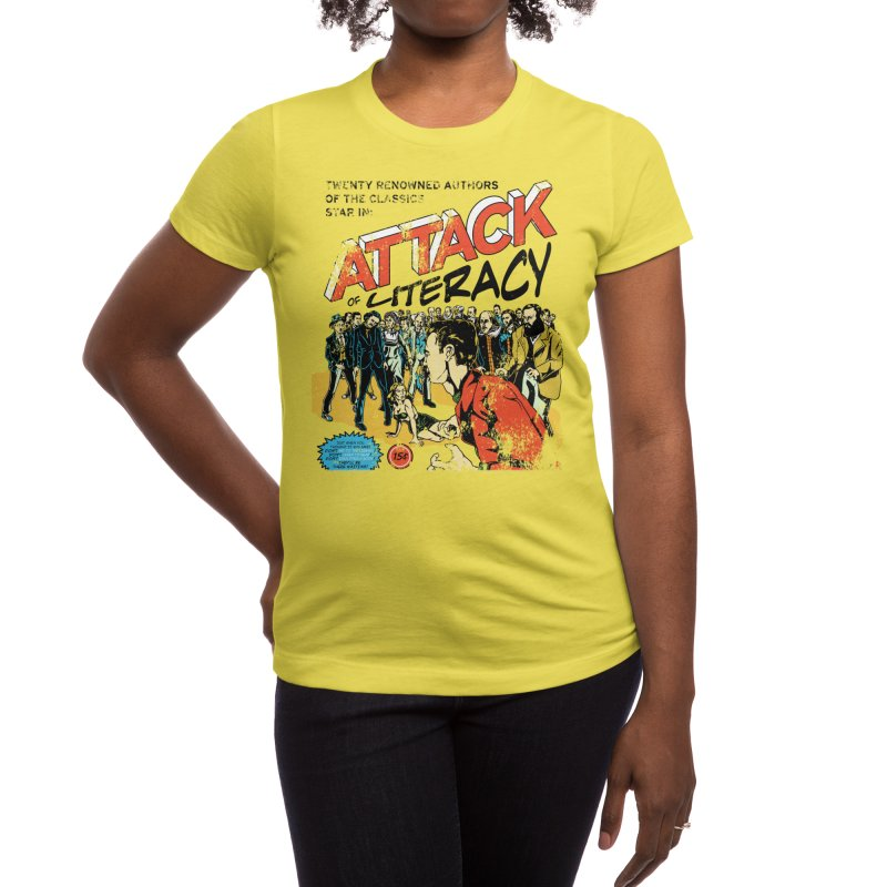 Attack of Literacy! Women's T-Shirt by Threadless Artist Shop