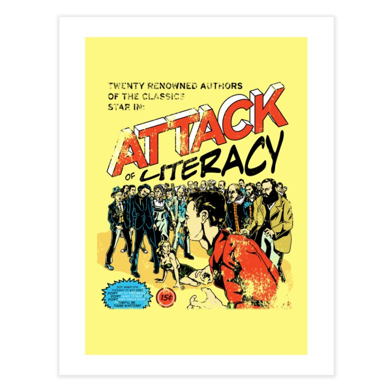 Attack of Literacy! Home Fine Art Print by Threadless Artist Shop