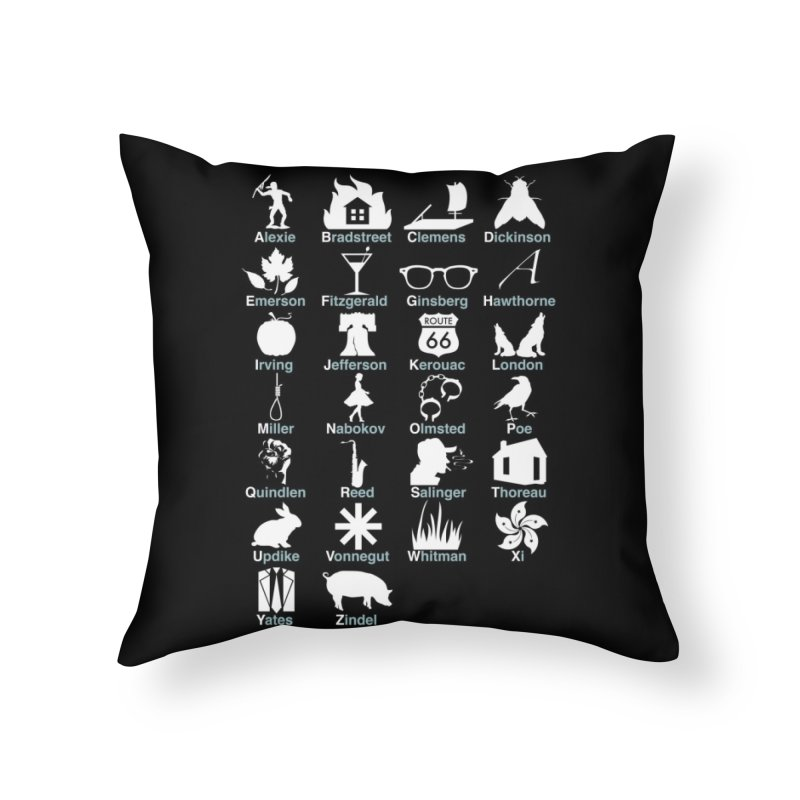 ABC's of Literature Home Throw Pillow by Threadless Artist Shop