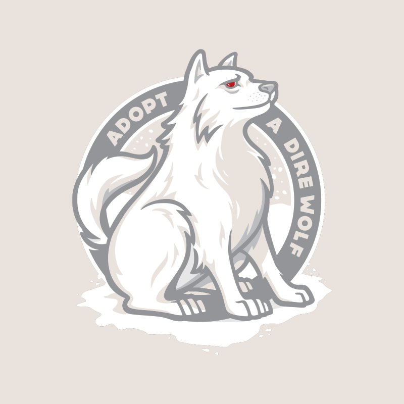 Adopt A Dire Wolf Men's T-Shirt by Threadless Artist Shop
