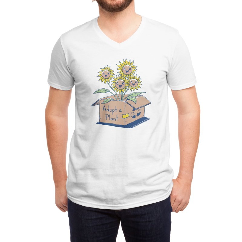 Adopt a Plant Men's V-Neck by Threadless Artist Shop