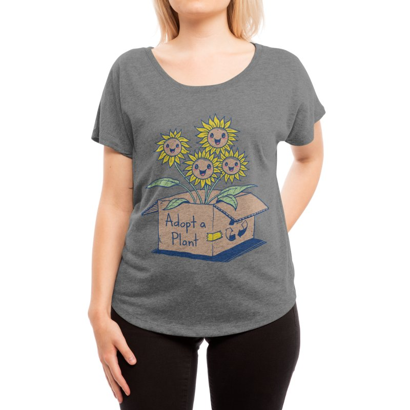 Adopt a Plant Women's Scoop Neck by Threadless Artist Shop