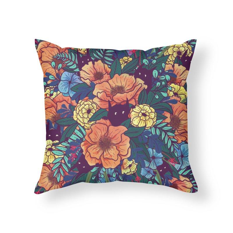 Wild Flowers Home Throw Pillow by Threadless Artist Shop