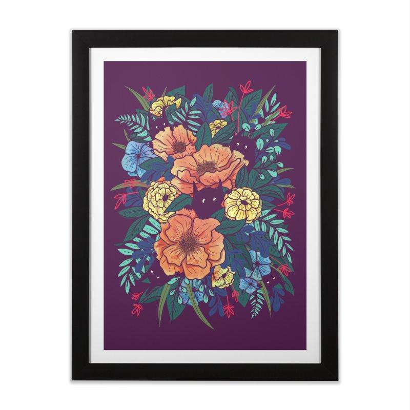 Wild Flowers Home Framed Fine Art Print by Threadless Artist Shop