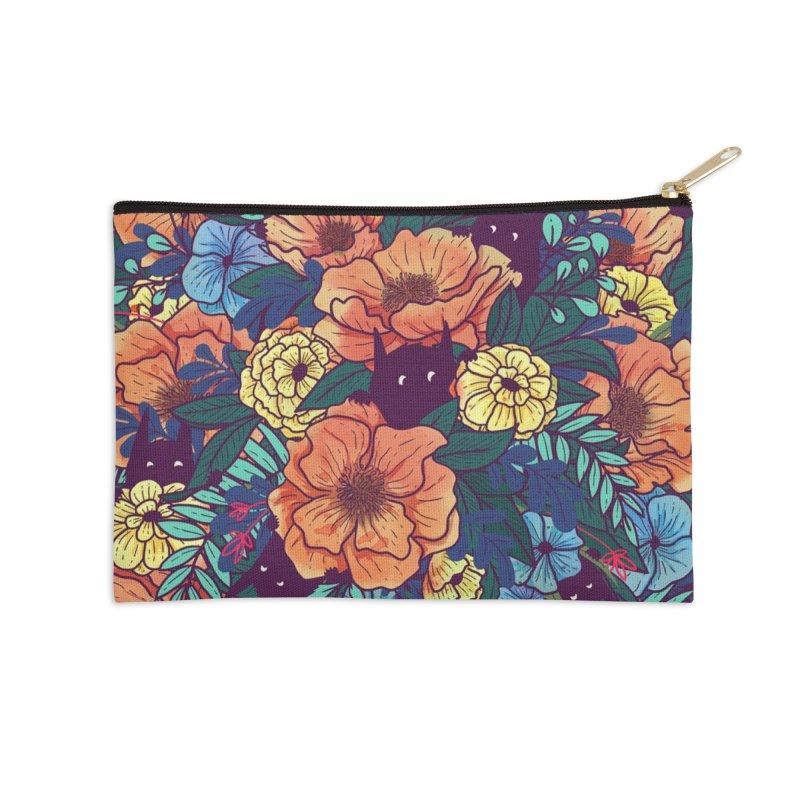 Wild Flowers Accessories Zip Pouch by Threadless Artist Shop