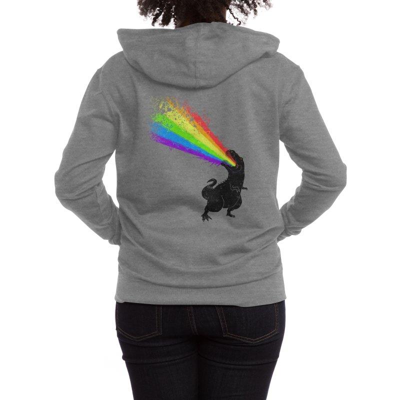 Technicolour Rex Women's Zip-Up Hoody by Threadless Artist Shop