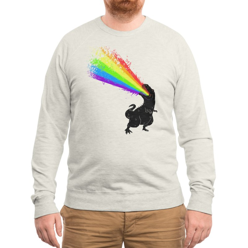 Technicolour Rex Men's Sweatshirt by Threadless Artist Shop