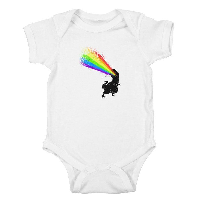 Technicolour Rex Kids Baby Bodysuit by Threadless Artist Shop