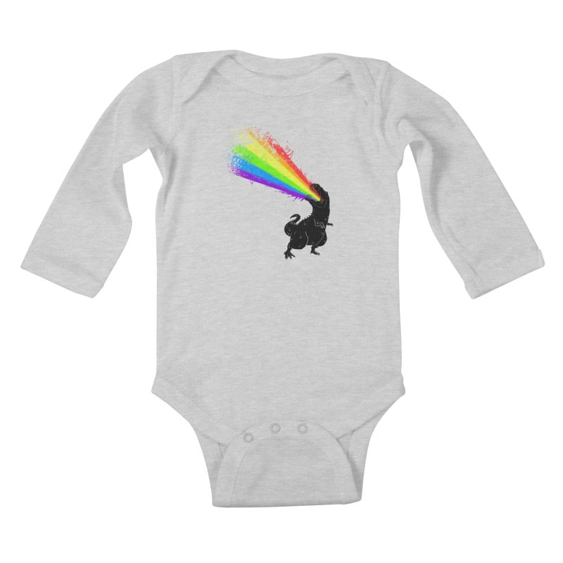Technicolour Rex Kids Baby Longsleeve Bodysuit by Threadless Artist Shop