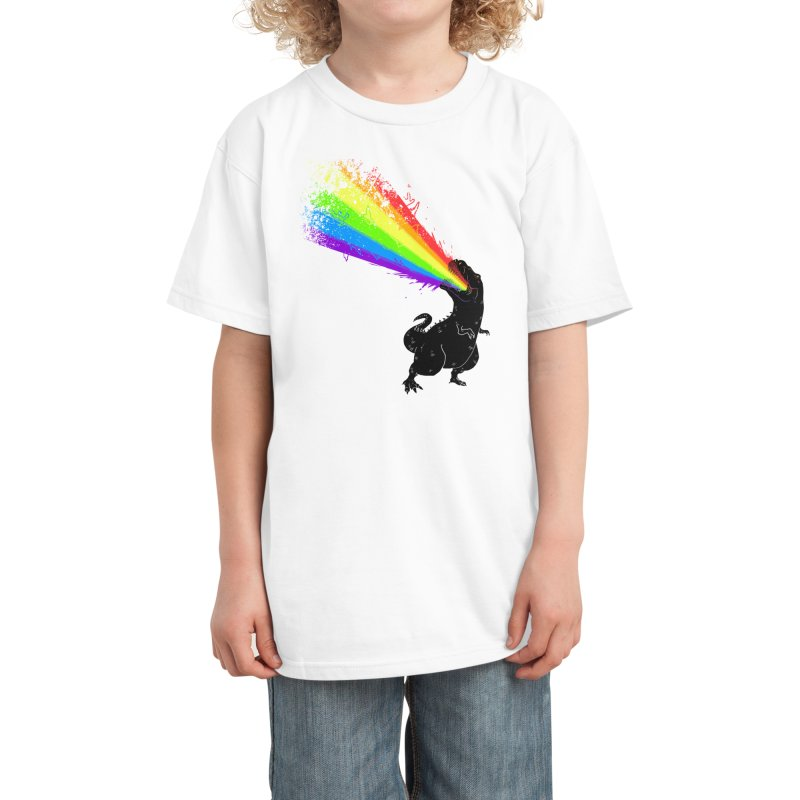 Technicolour Rex Kids T-Shirt by Threadless Artist Shop