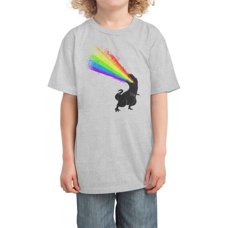 Technicolour Rex Kids T-Shirt by Threadless Artist Shop
