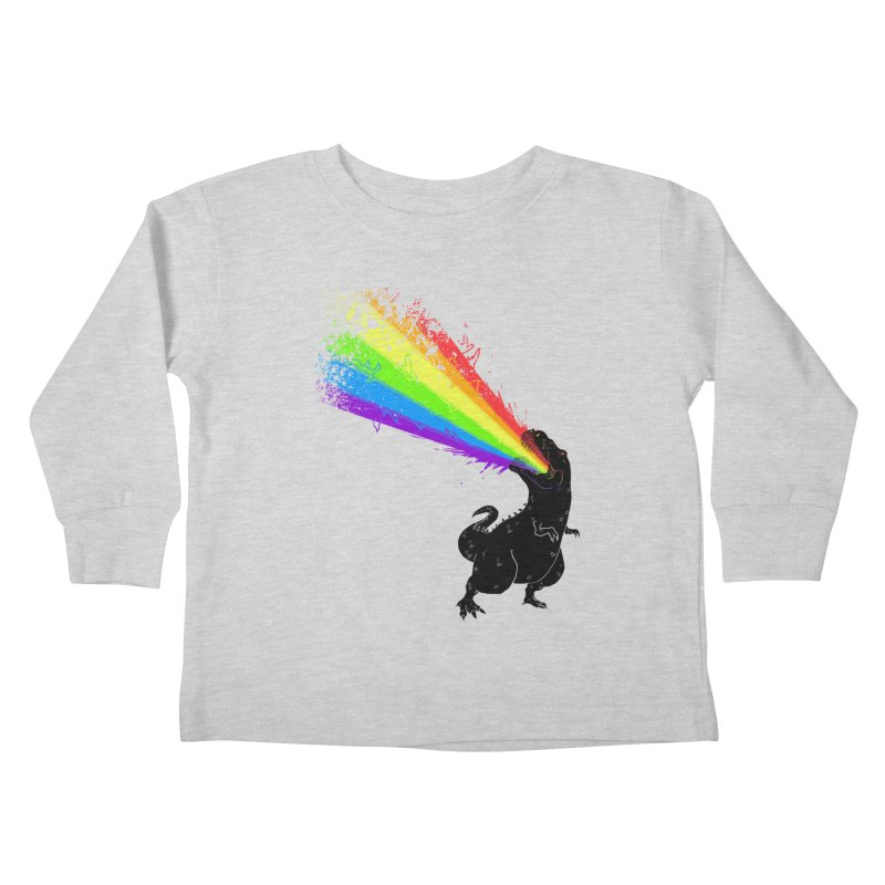 Technicolour Rex Kids Toddler Longsleeve T-Shirt by Threadless Artist Shop