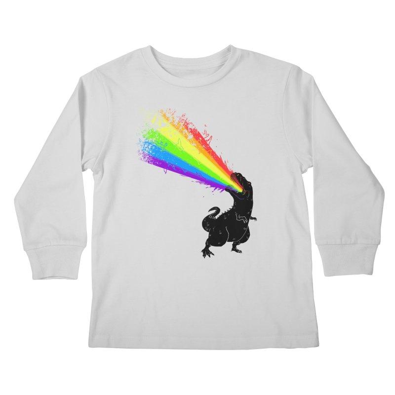 Technicolour Rex Kids Longsleeve T-Shirt by Threadless Artist Shop