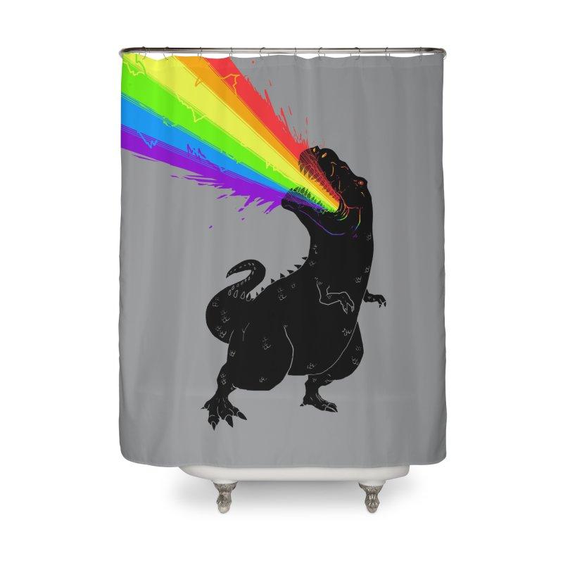 Technicolour Rex Home Shower Curtain by Threadless Artist Shop