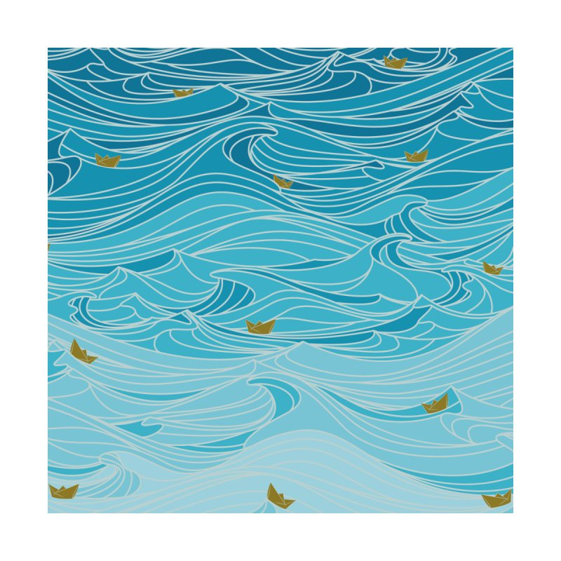 golden paper ships Home Tapestry by Threadless Artist Shop