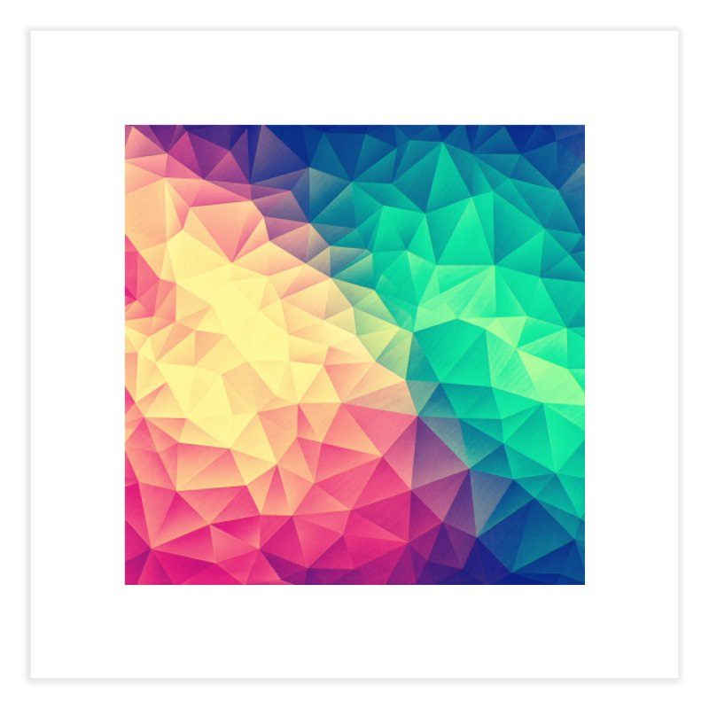 Color Bomb! Home Fine Art Print by Threadless Artist Shop