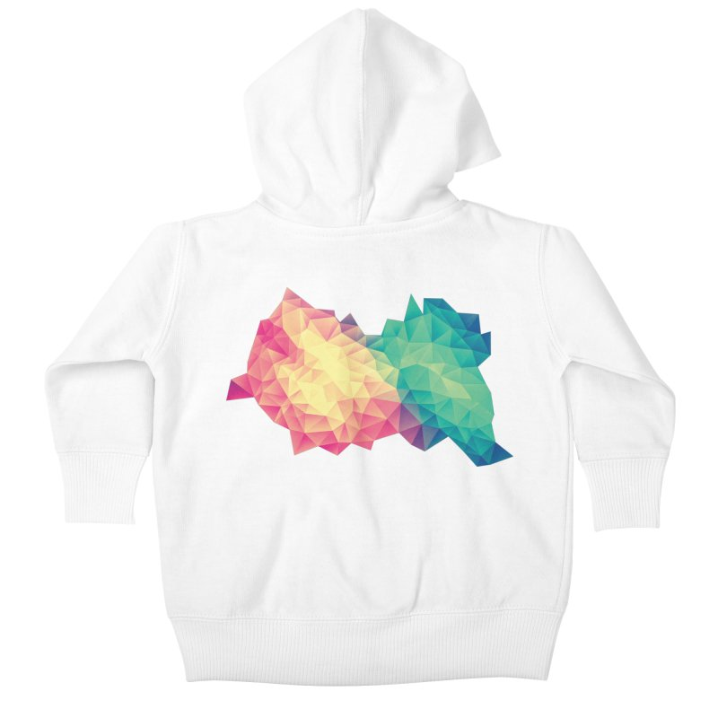 Color Bomb! Kids Baby Zip-Up Hoody by Threadless Artist Shop