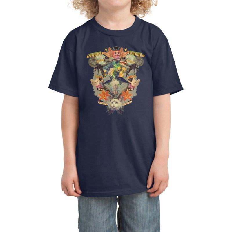 Meowosaurus Kids T-Shirt by Threadless Artist Shop