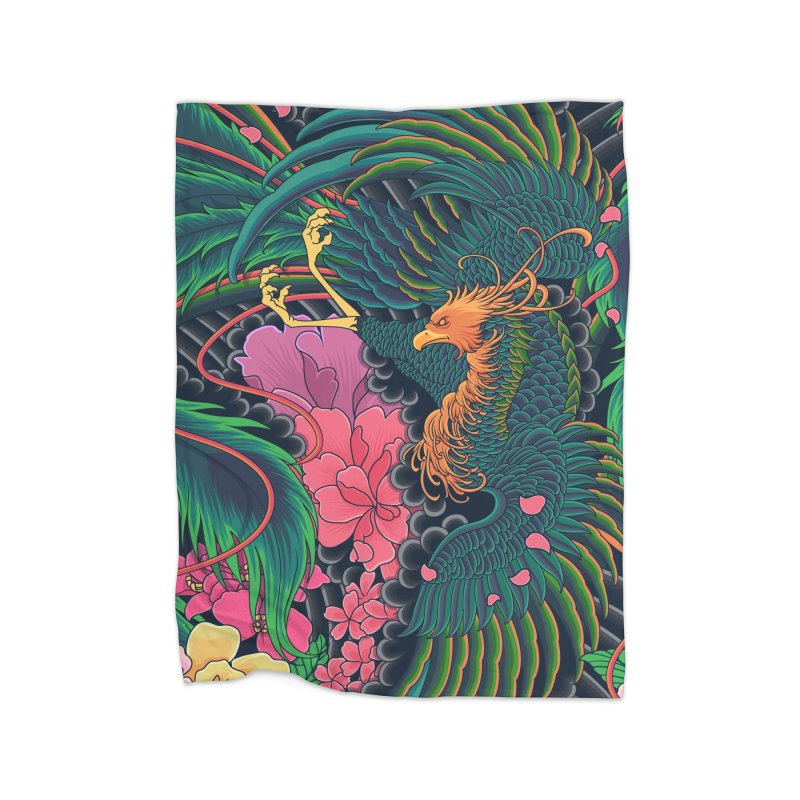 The Grand Phoenix Home Blanket by Threadless Artist Shop