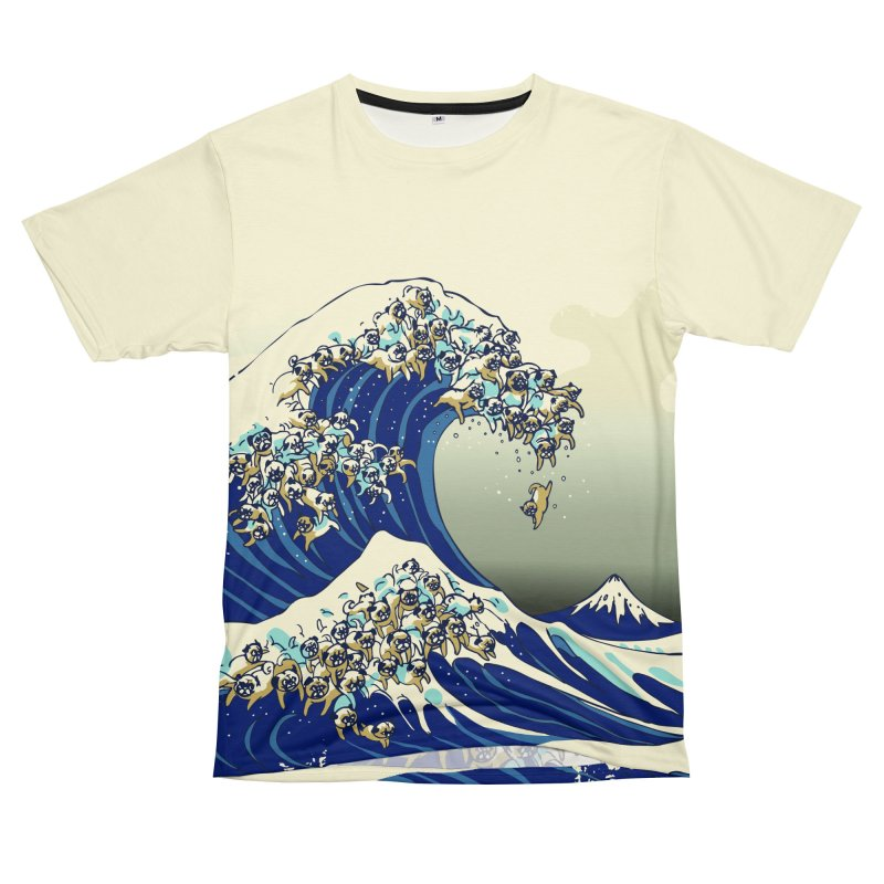 The Great Wave of Pug Men's Cut & Sew by Threadless Artist Shop