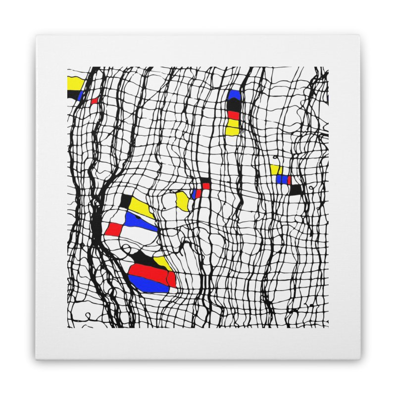 Drunk Mondrian Home Stretched Canvas by Threadless Artist Shop