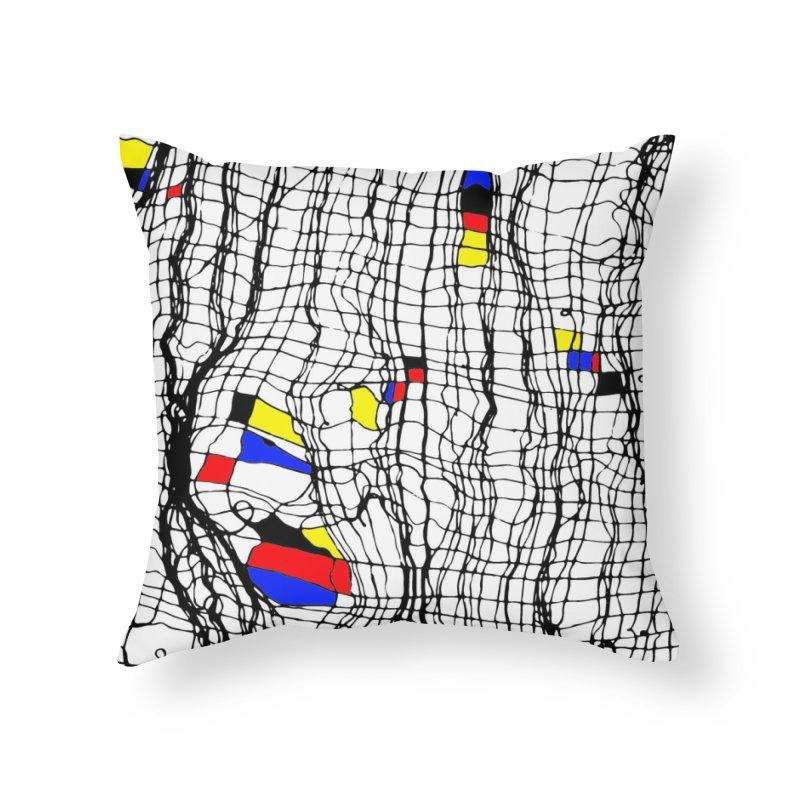 Drunk Mondrian Home Throw Pillow by Threadless Artist Shop