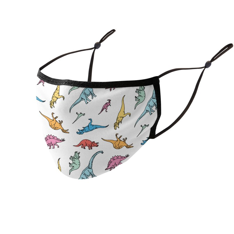 Dino Accessories Face Mask by Threadless Artist Shop