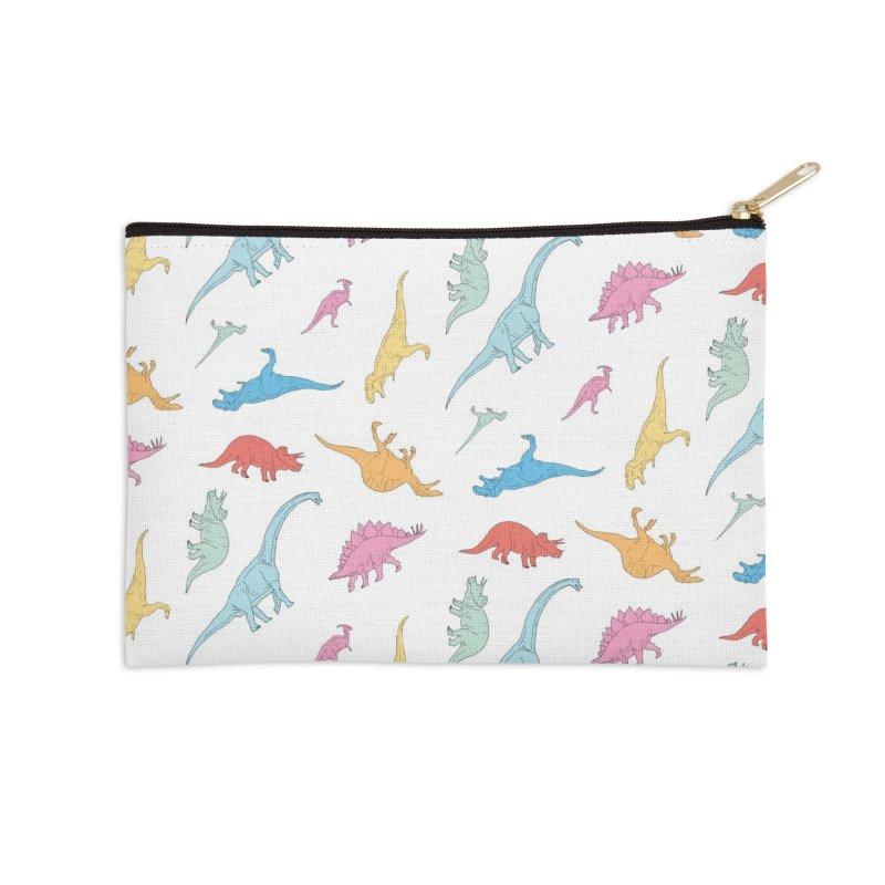 Dino Accessories Zip Pouch by Threadless Artist Shop