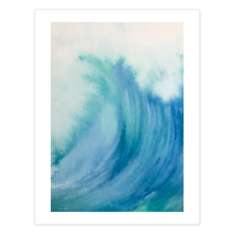Watercolor Wave Home Fine Art Print by Threadless Artist Shop