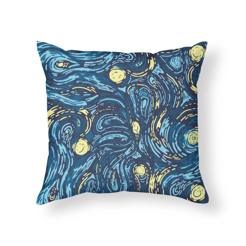 Starry Pattern Home Throw Pillow by Threadless Artist Shop